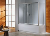 Glass curtains for bathroom