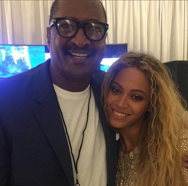 Matthew Knowles with Beyonce