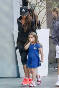 Victoria Beckham demonstrated a stretch in heels